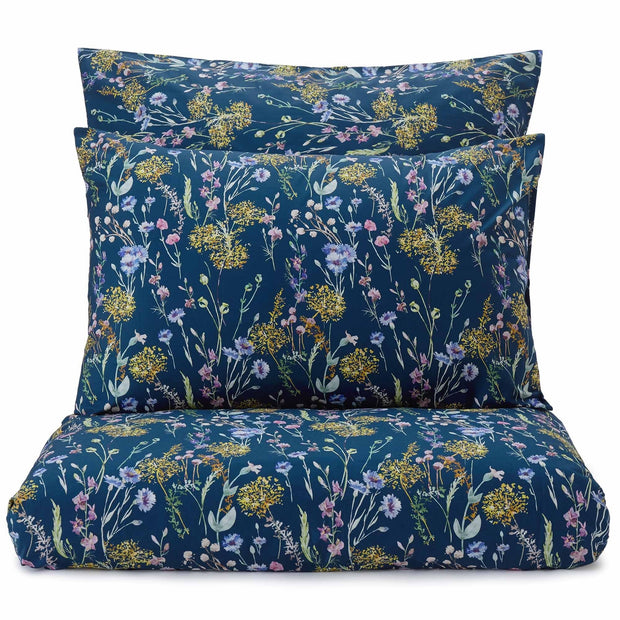 Laviano pillowcase, multicolour & dark blue, 100% cotton