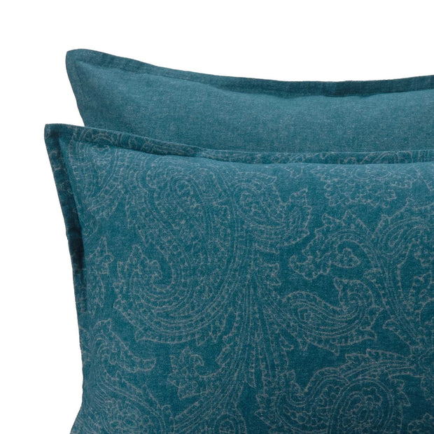 Lourinha Flannel Pillowcase [Forest green]