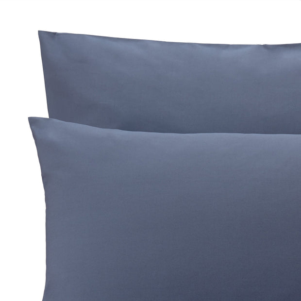 Manteigas duvet cover, dark grey blue, 100% organic cotton | URBANARA percale bedding