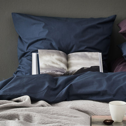 Dark grey blue Manteigas Bettdeckenbezug | Home & Living inspiration | URBANARA