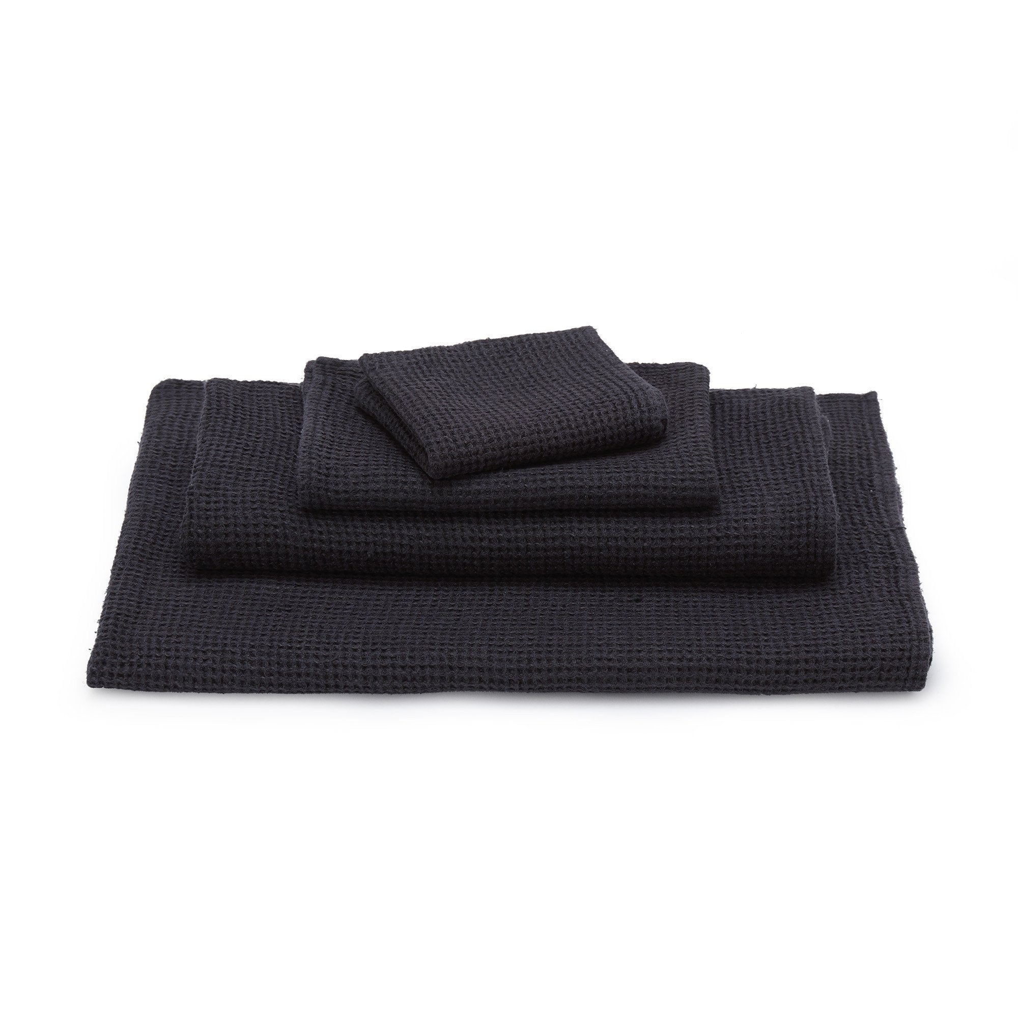 Neris hand towel, charcoal, 100% linen