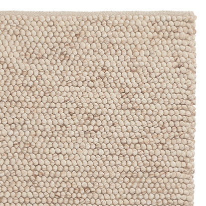 Ravi rug, natural white, 70% new wool & 30% viscose & 100% cotton