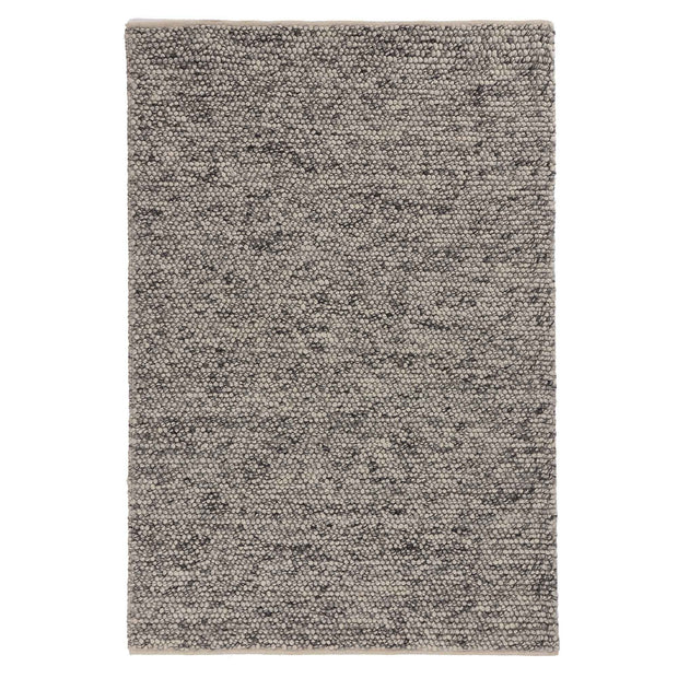 Ravi rug, off-white & grey, 70% new wool & 30% viscose & 100% cotton |High quality homewares