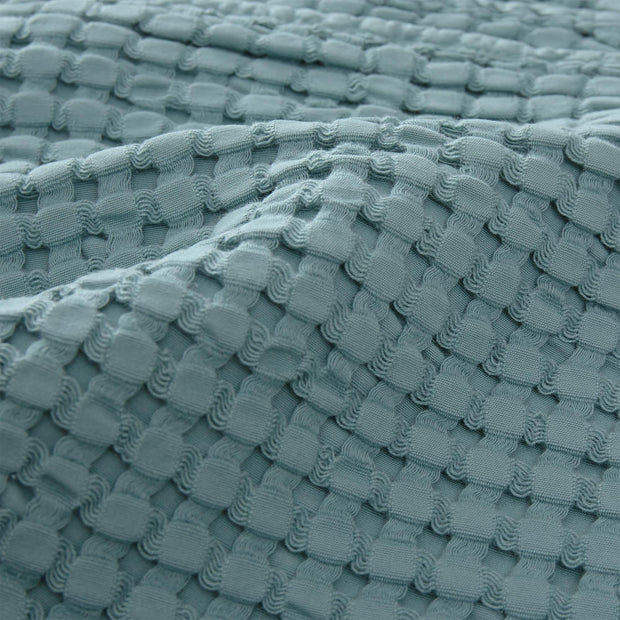 Veiros bedspread, green grey, 100% cotton | URBANARA bedspreads & quilts