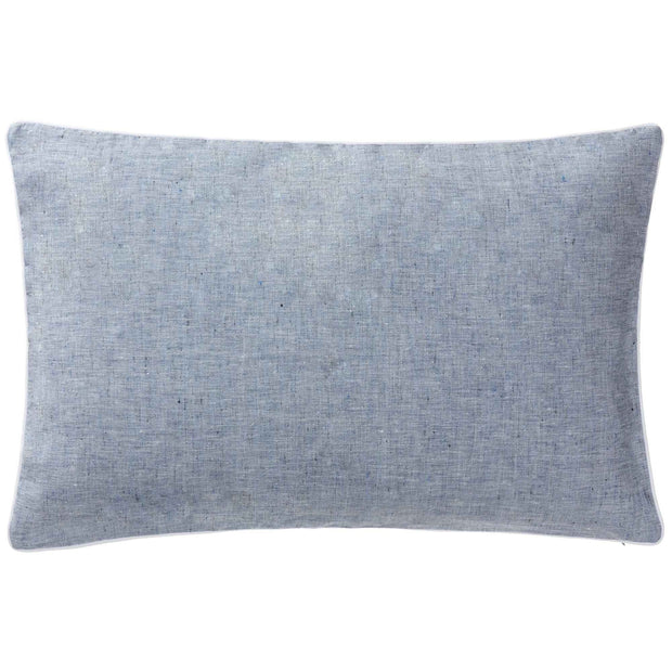 Sameiro cushion cover, dark grey blue & white, 100% linen