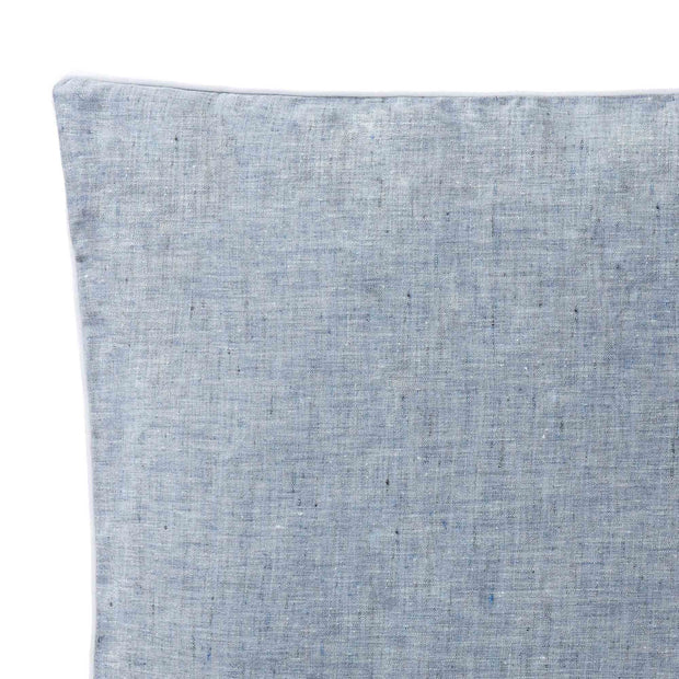 Sameiro cushion cover, dark grey blue & white, 100% linen | URBANARA cushion covers