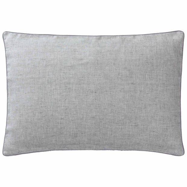 Sameiro cushion cover, grey & charcoal, 100% linen