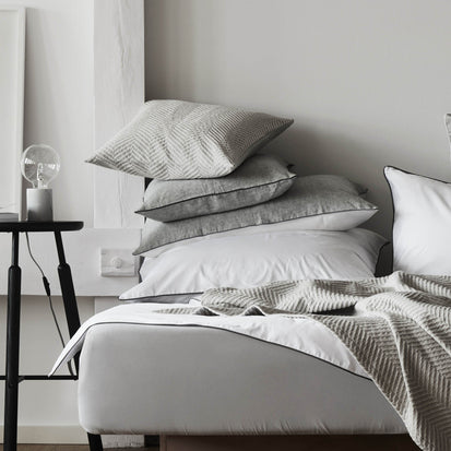 Grey & White & Charcoal Sameiro Bettdeckenbezug | Home & Living inspiration | URBANARA