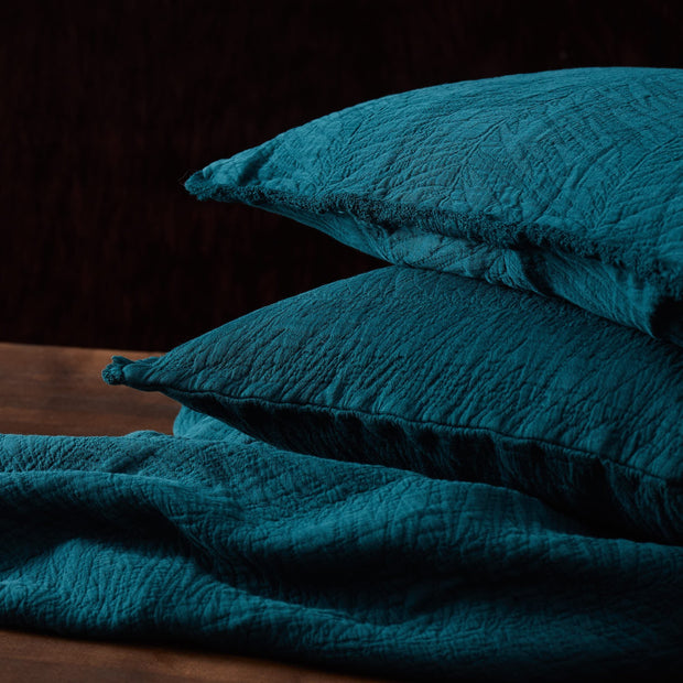 Ruivo cushion cover in forest green, 100% cotton |Find the perfect cushion covers