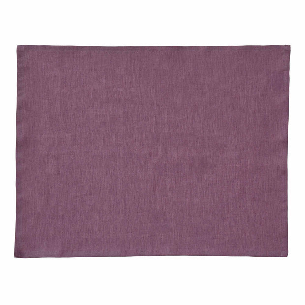 Teis table cloth in aubergine, 100% linen |Find the perfect tablecloths