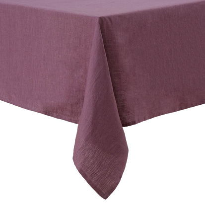 Teis table cloth, aubergine, 100% linen
