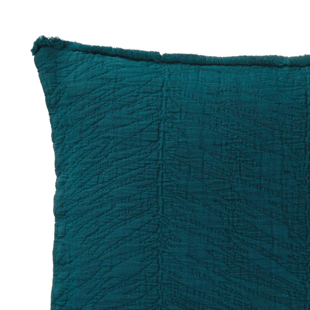 Ruivo cushion cover, forest green, 100% cotton | URBANARA cushion covers