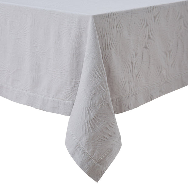 Espinho table cloth, light stone grey, 100% cotton