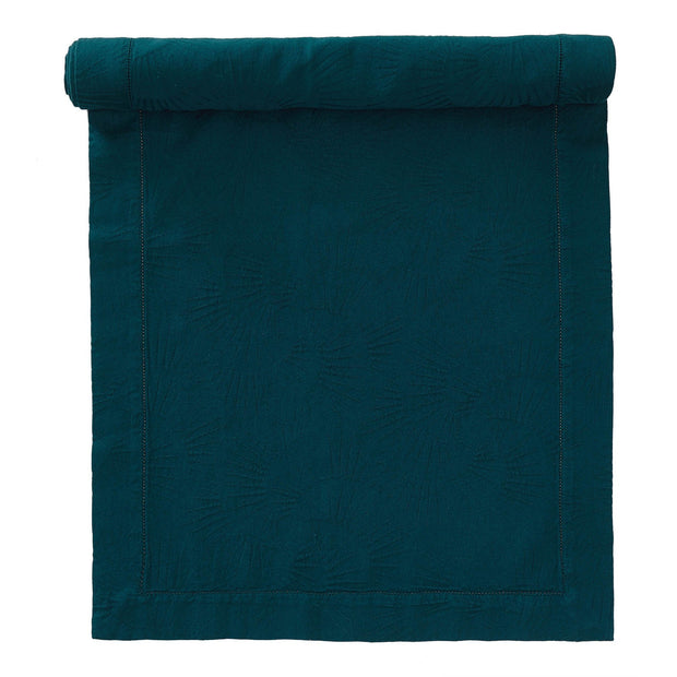 Espinho table runner, forest green, 100% cotton