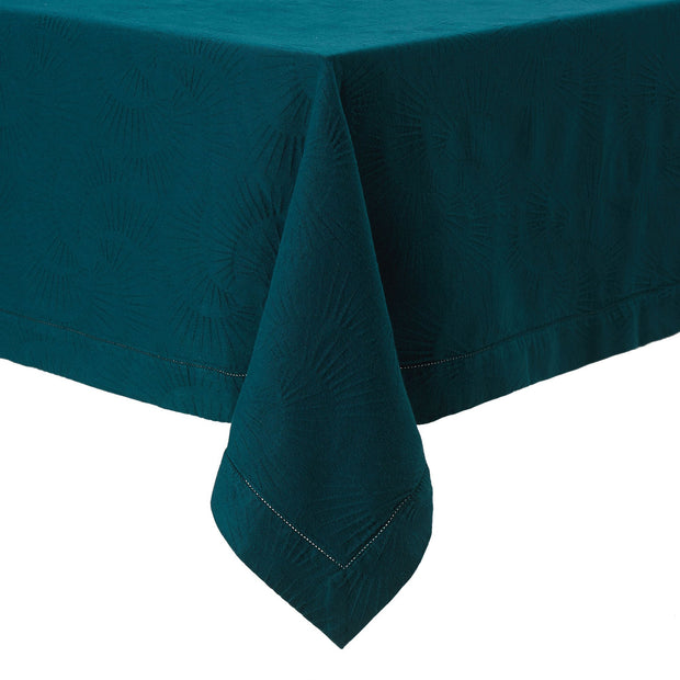 Espinho table runner, forest green, 100% cotton | URBANARA table runners
