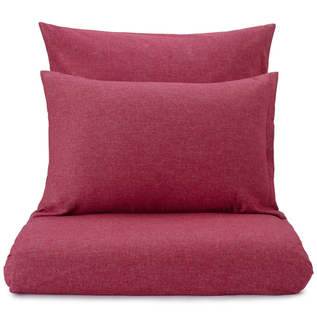 Vilar pillowcase, ruby red, 100% organic cotton