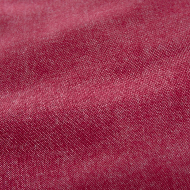 Vilar pillowcase, ruby red, 100% organic cotton | URBANARA flannel bedding
