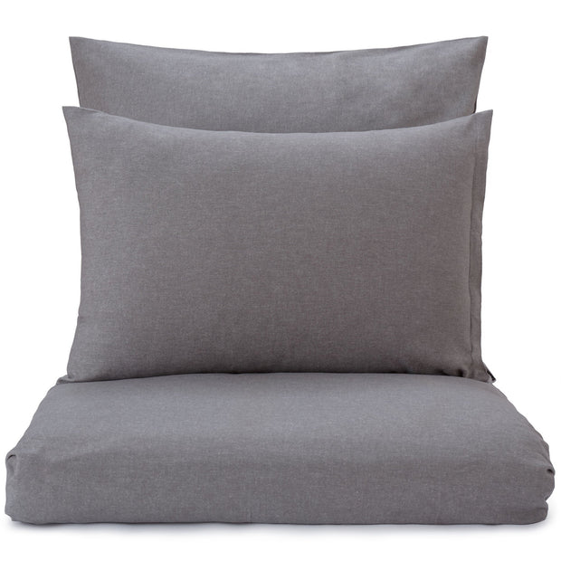 Vilar pillowcase, stone grey, 100% organic cotton