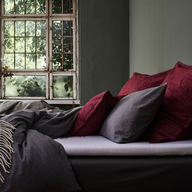 Vilar duvet cover, stone grey, 100% organic cotton |High quality homewares