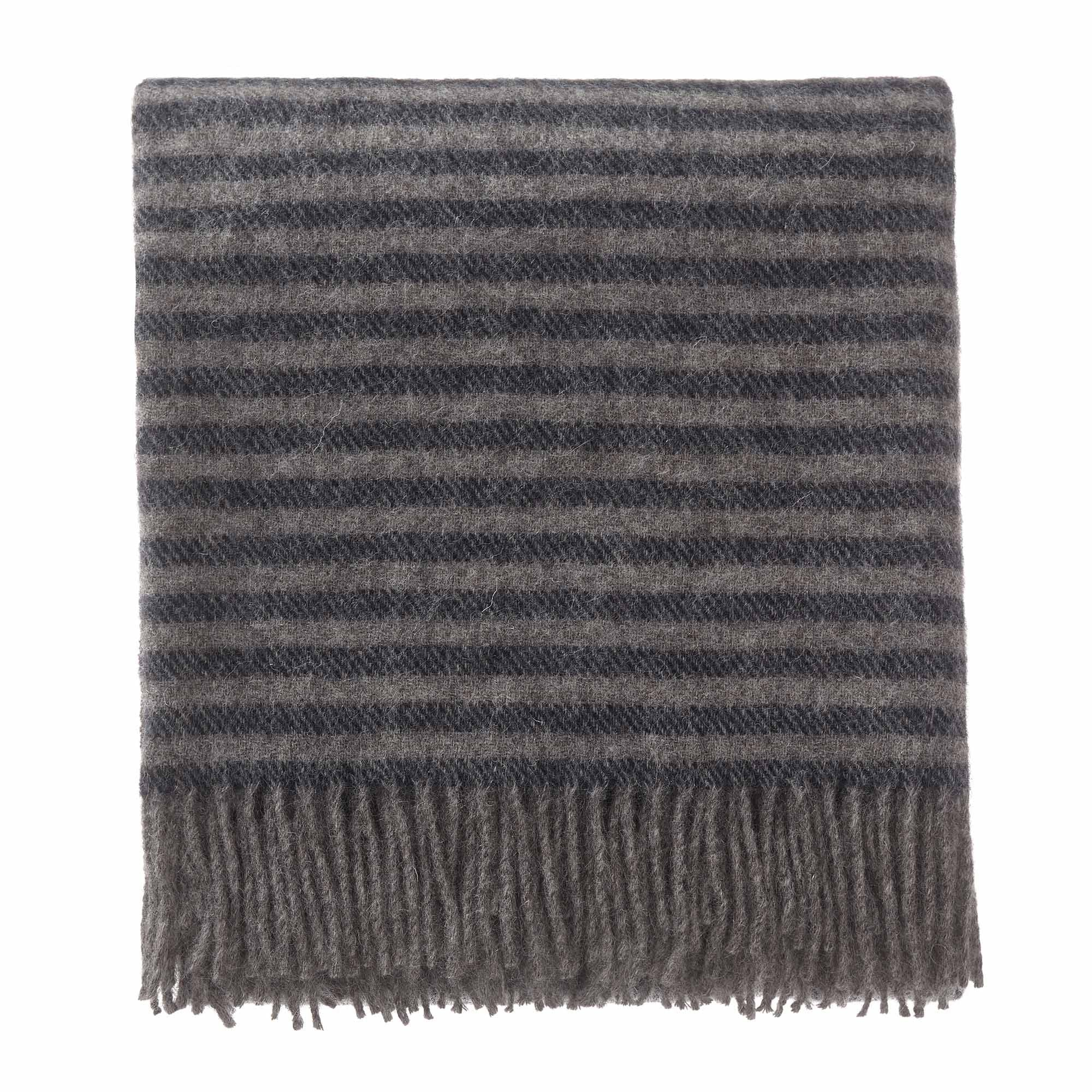 Visby blanket, dark blue & grey melange, 100% new wool