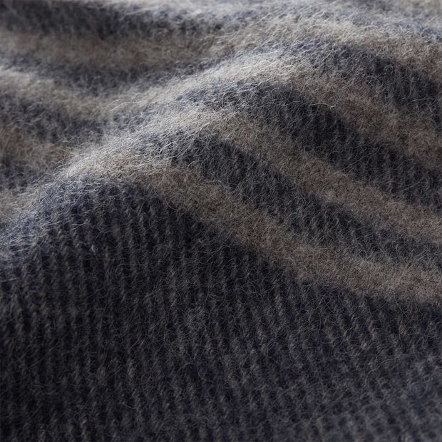 Visby blanket, dark blue & grey melange, 100% new wool |High quality homewares