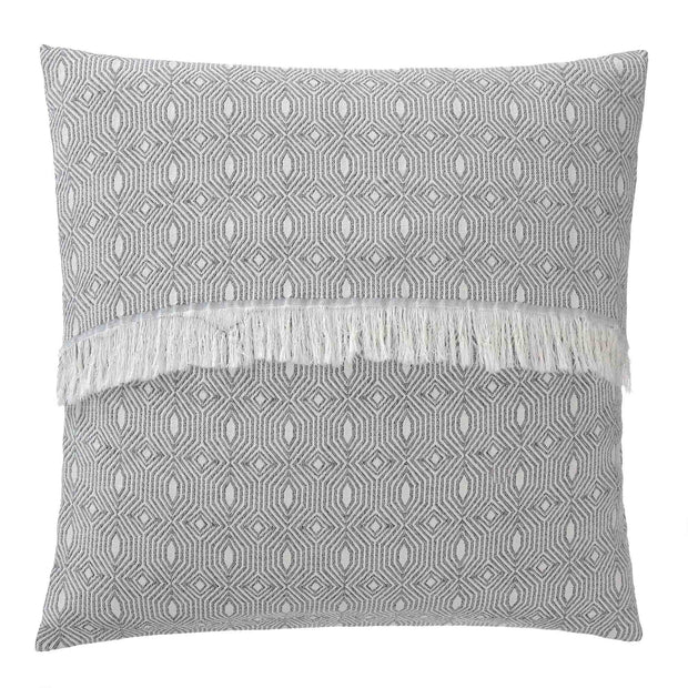 Alcoa cushion cover, black & natural white, 100% cotton