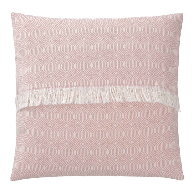 Alcoa cushion cover, coral & natural white, 100% cotton