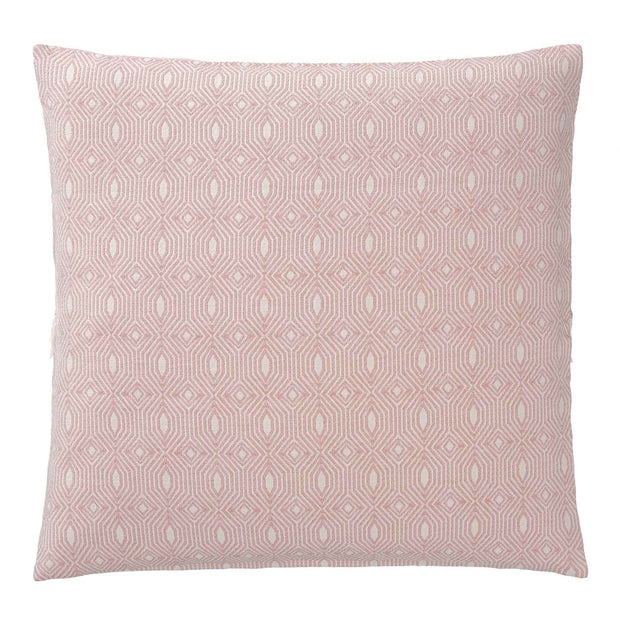 Alcoa cushion cover, coral & natural white, 100% cotton | URBANARA cushion covers