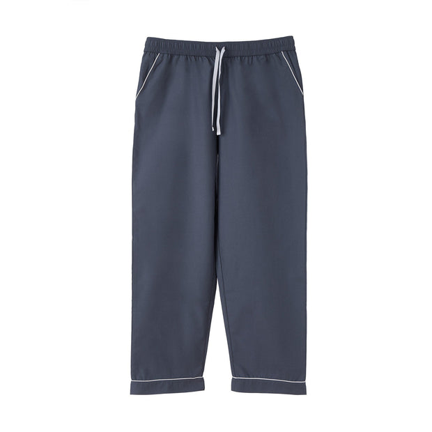 Alva Pyjama Bottoms dark grey blue & white, 100% organic cotton | High quality homewares