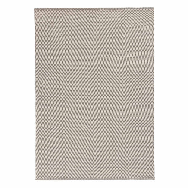 Pandim rug, grey & off-white, 100% wool | URBANARA wool rugs