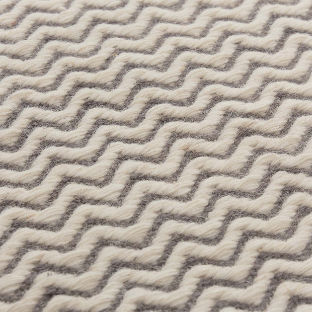 Pandim rug, grey & off-white, 100% wool |High quality homewares