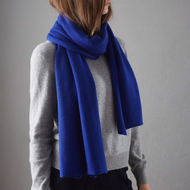 Nora Cashmere Scarf [Royal blue]