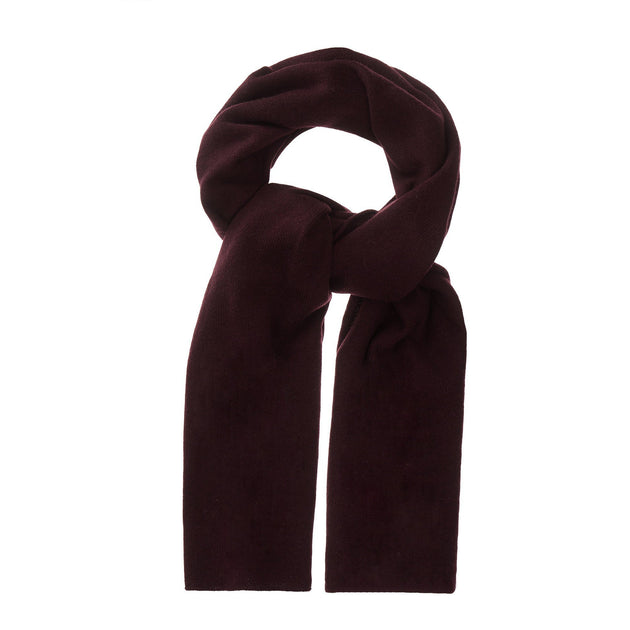 Nora scarf, bordeaux red, 50% cashmere wool & 50% wool