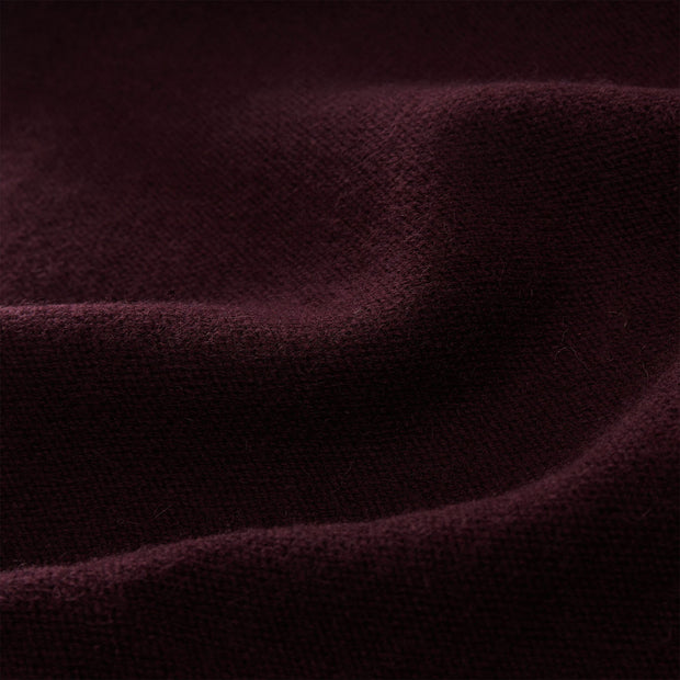 Nora scarf, bordeaux red, 50% cashmere wool & 50% wool | URBANARA hats & scarves