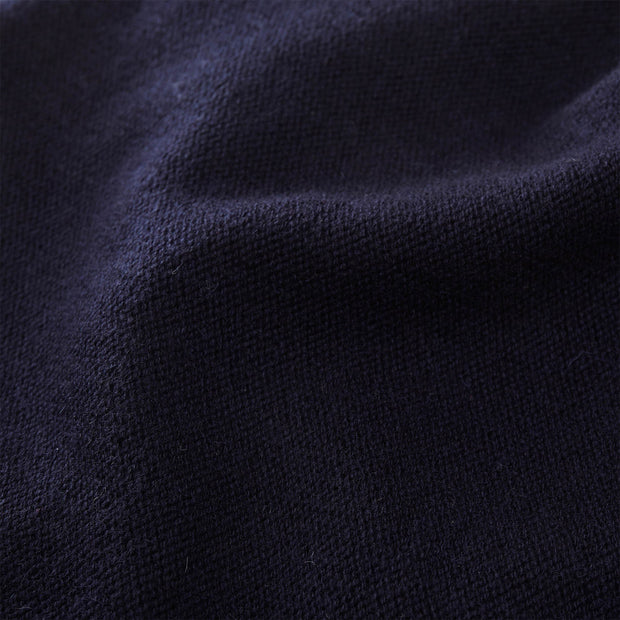Nora scarf, midnight blue, 50% cashmere wool & 50% wool | URBANARA hats & scarves
