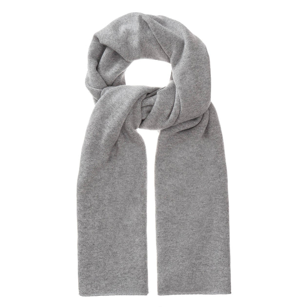 Nora scarf, light grey, 50% cashmere wool & 50% wool