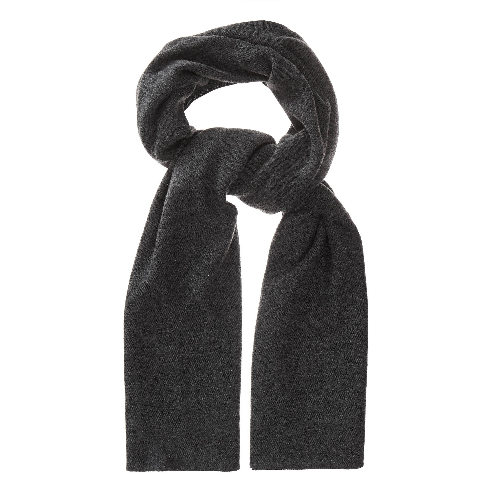 Nora scarf, charcoal, 50% cashmere wool & 50% wool