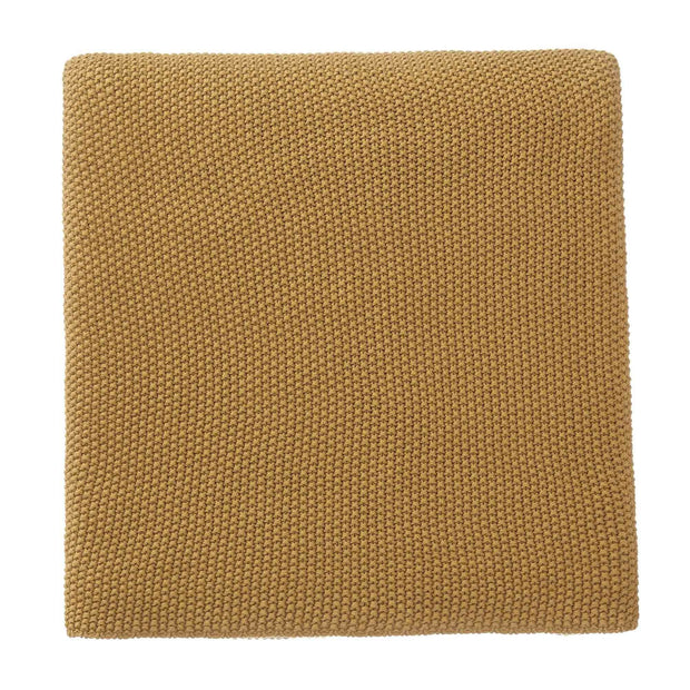Antua Cotton Blanket mustard, 100% cotton