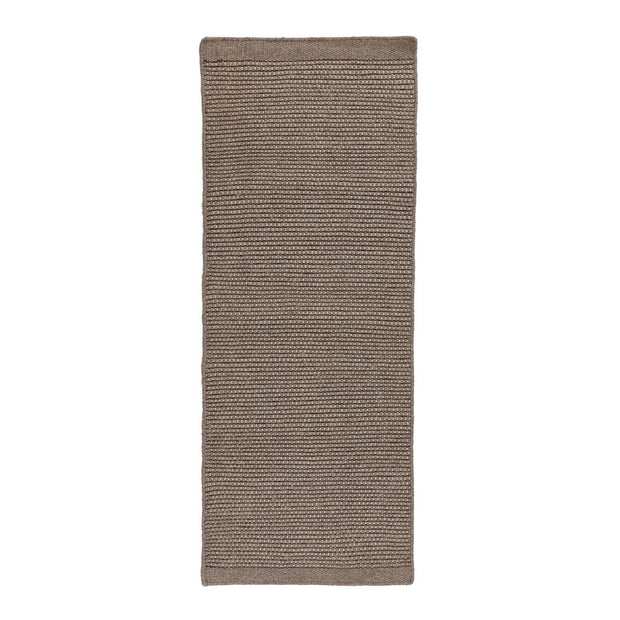 Kolong runner, grey brown & off-white, 100% new wool | URBANARA runners