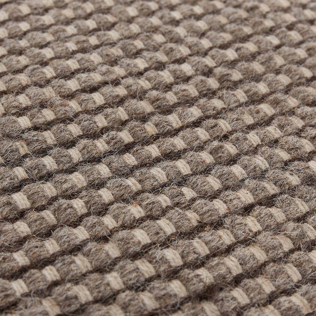 Kolong runner, grey brown & off-white, 100% new wool |High quality homewares