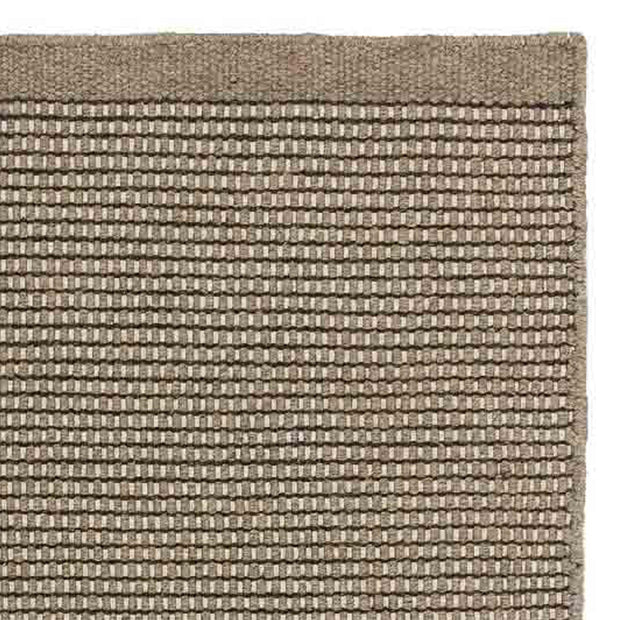 Kolong runner, grey brown & off-white, 100% new wool