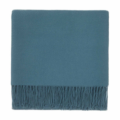 Almora blanket, green grey, 50% cashmere wool & 50% wool