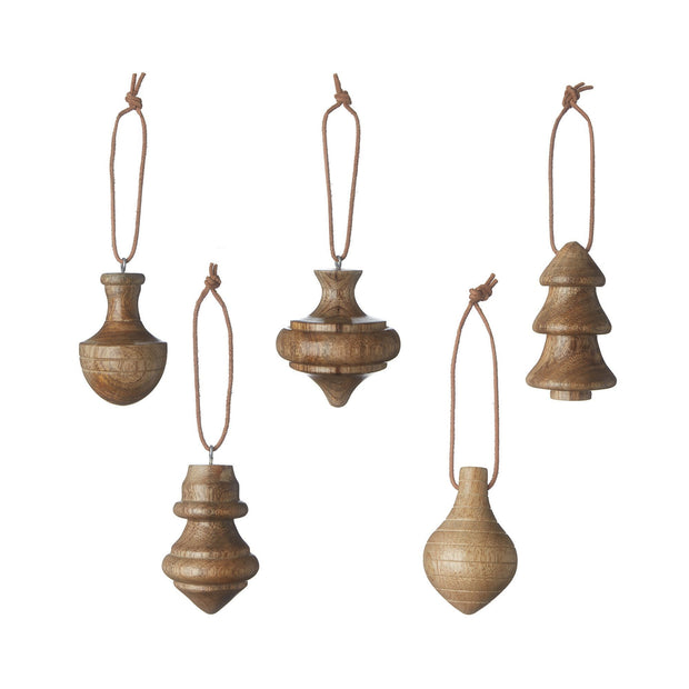 Ghadara christmas decoration, warm brown, 100% mango wood