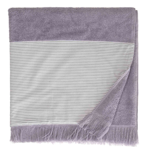 Luni beach towel, light purple grey, 100% cotton | URBANARA beach towels