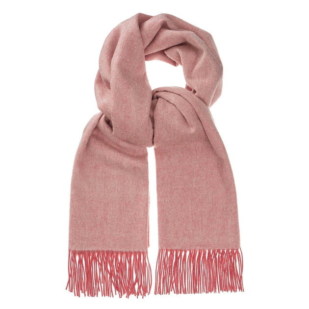 Sontra scarf, coral & ivory, 10% cashmere wool & 90% wool