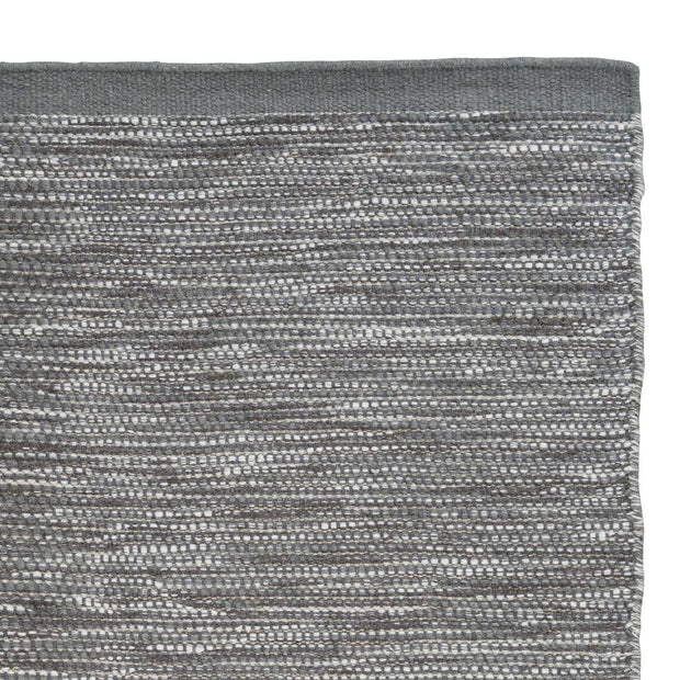 Kolong rug, grey green & chocolate & natural white, 100% new wool