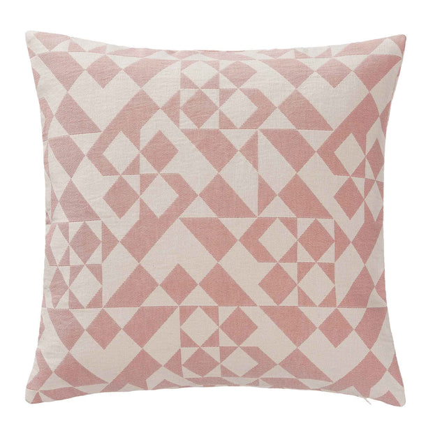 Amparo cushion cover, dusty pink & natural white, 100% cotton