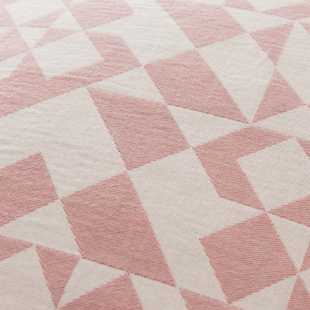Amparo cushion cover, dusty pink & natural white, 100% cotton |High quality homewares