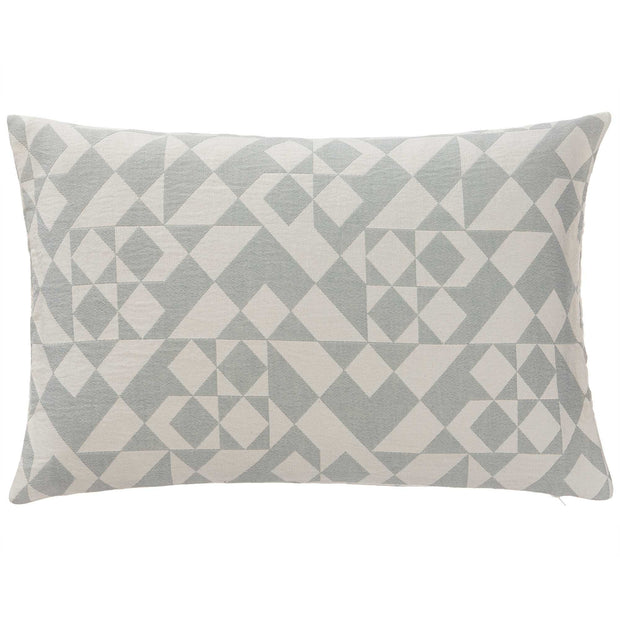 Amparo cushion cover, light grey green & natural white, 100% cotton