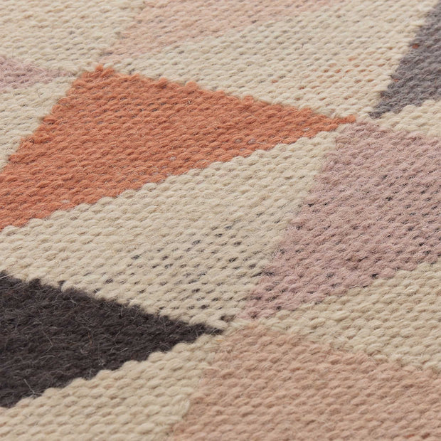 Barli Rug [Light pink/Cognac/Silver grey]